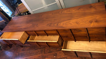 "Load image into Gallery viewer, REFINISHED MCM  Walnut Dresser 9 Drawers by Deilcraft  80"" Perfect - Mid Century Modern Toronto"