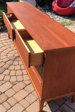 "Load image into Gallery viewer, REFINISHED MCM Walnut Dresser 9 drawers compact 58.5"" perfect - Mid Century Modern Toronto"