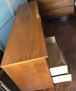 MCM Walnut Bedroom SET: Dresser 9 drawers, Tallboy 5 drawers, 2 Night Stands - Mid Century Modern Toronto