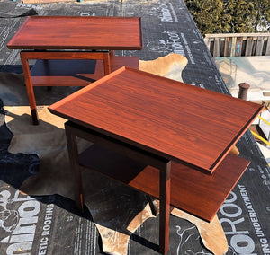 RESERVED FOR Dan McCormick ---REFINISHED MCM Accent Table by Jens Risom, commercial quality, large, PERFECT - Mid Century Modern Toronto