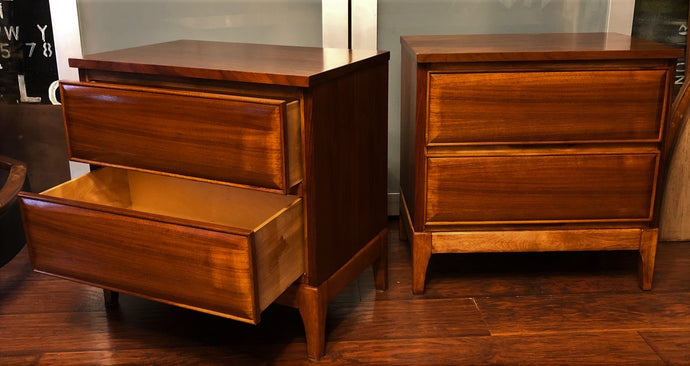 REFINISHED MCM Walnut Night Stands (2), perfect