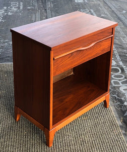 REFINISHED Mid Century Modern Walnut Nightstand, PERFECT, only one available - Mid Century Modern Toronto