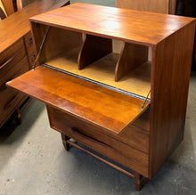 "Load image into Gallery viewer, REFINISHED MCM  Walnut Tallboy OR Secretary desk with drop down door 36"" PERFECT - Mid Century Modern Toronto"