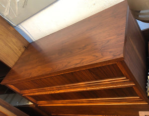 REFINISHED MCM Walnut Sculptural Walnut Tallboy, PERFECT - Mid Century Modern Toronto