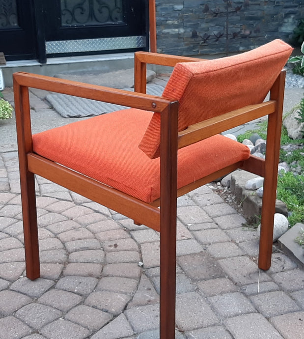 Set of 2 REFINISHED MCM Teak Armchairs by Brunswick Mfg for Eatons - Mid Century Modern Toronto