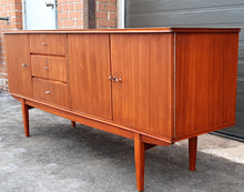 "Load image into Gallery viewer, REFINISHED MCM Mahogany Sideboard Credenza 72"" PERFECT - Mid Century Modern Toronto"
