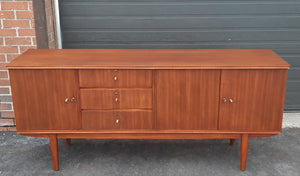 "REFINISHED MCM Mahogany Sideboard Credenza 72"" PERFECT - Mid Century Modern Toronto"