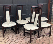 Load image into Gallery viewer, SUPER SALE 6 Danish MCM Rosewood Chairs (2 arm, 4 side) by Boltinge Stolefabric  in great condition, each $33 - Mid Century Modern Toronto