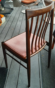 8 Danish MCM Rosewood or Mahogany Dining Chairs RESTORED; very comfortable, each $249 - Mid Century Modern Toronto