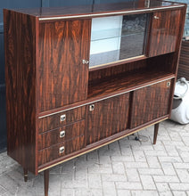 Load image into Gallery viewer, RESTORED Mid Century Modern Rosewood Highboard compact narrow, PERFECT - Mid Century Modern Toronto
