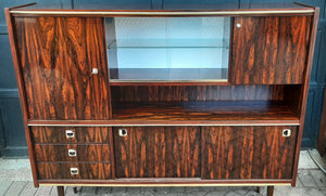 RESTORED Mid Century Modern Rosewood Highboard compact narrow, PERFECT - Mid Century Modern Toronto