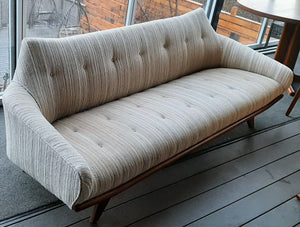 Vintage Mid-Century Modern Sofa with REFINISHED wooden frame 7ft Gondola style, SUPER SALE - Mid Century Modern Toronto