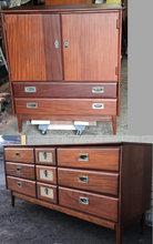 Load image into Gallery viewer, REFINISHED MCM  SOLID TEAK Compact Wardrobe and 9 Drawers Dresser by Imperial, PERFECT - Mid Century Modern Toronto