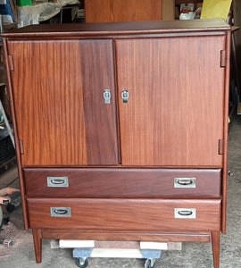 REFINISHED MCM  SOLID TEAK Compact Wardrobe and 9 Drawers Dresser by Imperial, PERFECT - Mid Century Modern Toronto