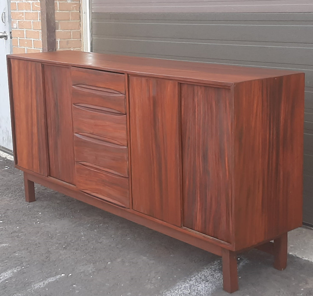REFINISHED MCM Solid Wood Credenza Sideboard 81.5