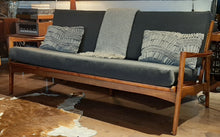 Load image into Gallery viewer, REFINISHED REUPHOLSTERED Mid Century Modern 3-Seater Sofa 6 ft Grey fabric PERFECT - Mid Century Modern Toronto