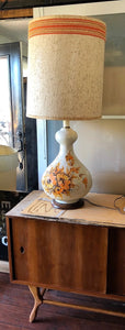 "Mid Century Modern ceramic or pottery lamp, large H 40"" (including shade) - Mid Century Modern Toronto"