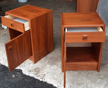Load image into Gallery viewer, REFINISHED MCM Teak Dresser 8 Drawers, Wardrobe , 2 Nigh Stands, Queen Bed w Bookcase Headboard, PERFECT - Mid Century Modern Toronto