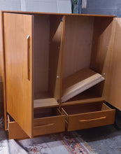 Load image into Gallery viewer, RESTORED MCM Teak Dresser 9 Drawers, Wardrobe , 2 Nigh Stands, Queen Bed w Headboard, Mirror, PERFECT - Mid Century Modern Toronto