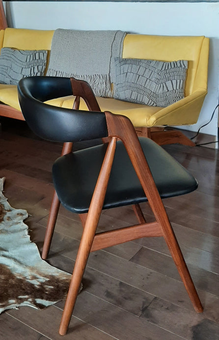 RESTORED Danish MCM Teak Compass Armchair, single, perfect - Mid Century Modern Toronto