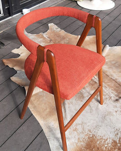 On hold***RESTORED MCM Teak Armchair, in Kai Kristiansen style, made in Italy, single, perfect - Mid Century Modern Toronto