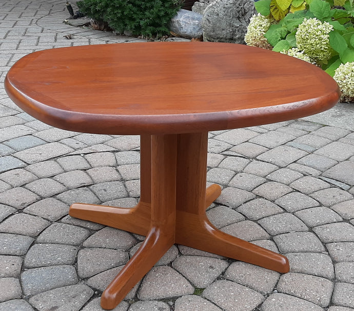 REFINISHED MCM Teak Coffee Table with pedestal legs - Mid Century Modern Toronto