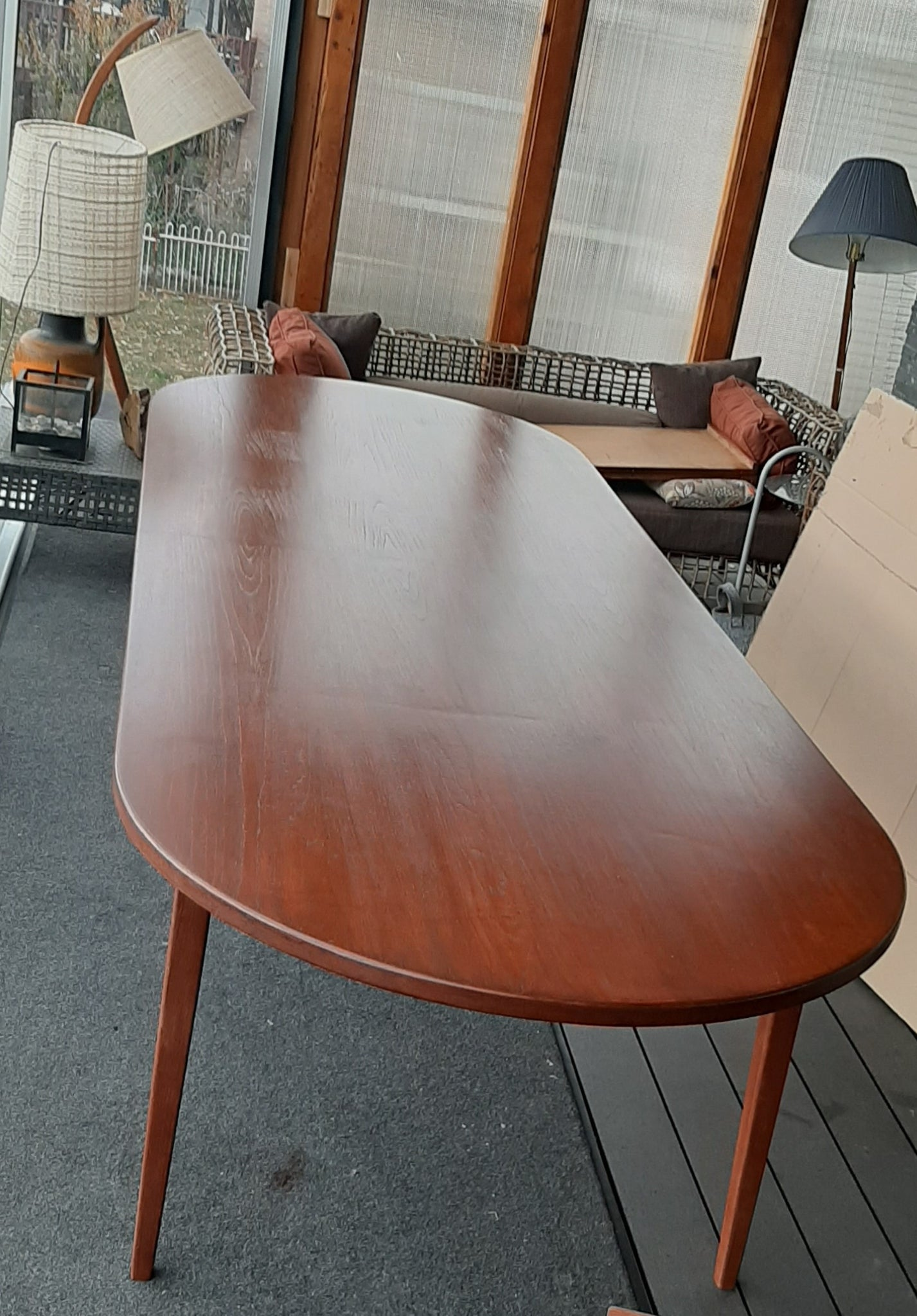 Refinished Unique Danish Mcm Teak Table Dining Or Boardroom 10 Ft S Mid Century Modern Toronto
