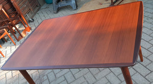 "On hold for L. ***REFINISHED MCM Teak Dining Table Extendable w 3 leaves PERFECT 51"" - 85"", by Alf Aarseth, Norway - Mid Century Modern Toronto"