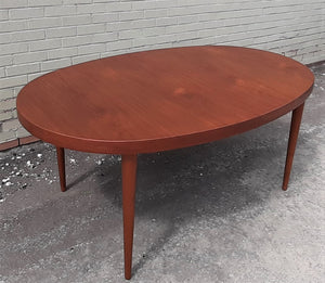 Surprising Refinished Mcm Teak Dining Table Extendable Oval W 2 Leaves Perfect 66 107 Treated For Durability Gmtry Best Dining Table And Chair Ideas Images Gmtryco