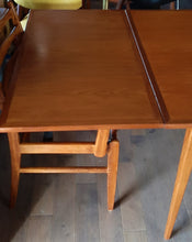 "Load image into Gallery viewer, REFINISHED MCM Teak Draw Leaf Table with 2 Extension Leaves, PERFECT 54-95"" - Mid Century Modern Toronto"