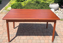 "Load image into Gallery viewer, REFINISHED MCM Teak Draw Leaf Table with 2 Extension Leaves, 54-95"" - Mid Century Modern Toronto"