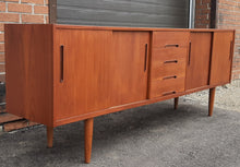 "Load image into Gallery viewer, REFINISHED MCM Teak Credenza Sideboard GIGANT by Nils Jonnson for TROEDS 87"" PERFECT - Mid Century Modern Toronto"