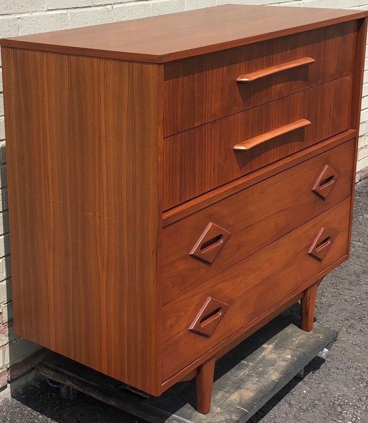 purchase cheap 06a3d 8fc17 REFINISHED Unique MCM Walnut Tallboy dresser, PERFECT, large 44
