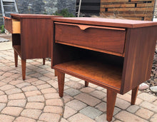 Load image into Gallery viewer, REFINISHED MCM Walnut Night Stands (2) - Mid Century Modern Toronto