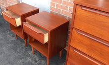 Load image into Gallery viewer, REFINISHED Compact MCM Walnut Bedroom Set: Dresser 9 Drawers, Tallboy, 2 Nightstands PERFECT - Mid Century Modern Toronto