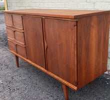 "Load image into Gallery viewer, REFINISHED MCM Walnut Buffet Sideboard 50"", PERFECT - Mid Century Modern Toronto"