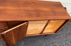 "REFINISHED MCM Walnut Buffet Sideboard 50"", PERFECT - Mid Century Modern Toronto"