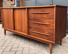 "Load image into Gallery viewer, REFINISHED MCM Walnut Buffet Sideboard, 66"", almost perfect - Mid Century Modern Toronto"