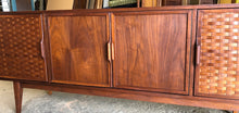 Load image into Gallery viewer, REFINISHED MCM Walnut Credenza with woven front PERFECT, 6ft - Mid Century Modern Toronto