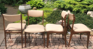 4 MCM Walnut Chairs RESTORED, each $75 only - Mid Century Modern Toronto