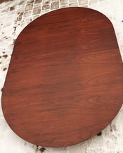 "Load image into Gallery viewer, REFINISHED MCM Walnut Table Extendable Oval w 3 leaves 60.5""- 95"" - Mid Century Modern Toronto"