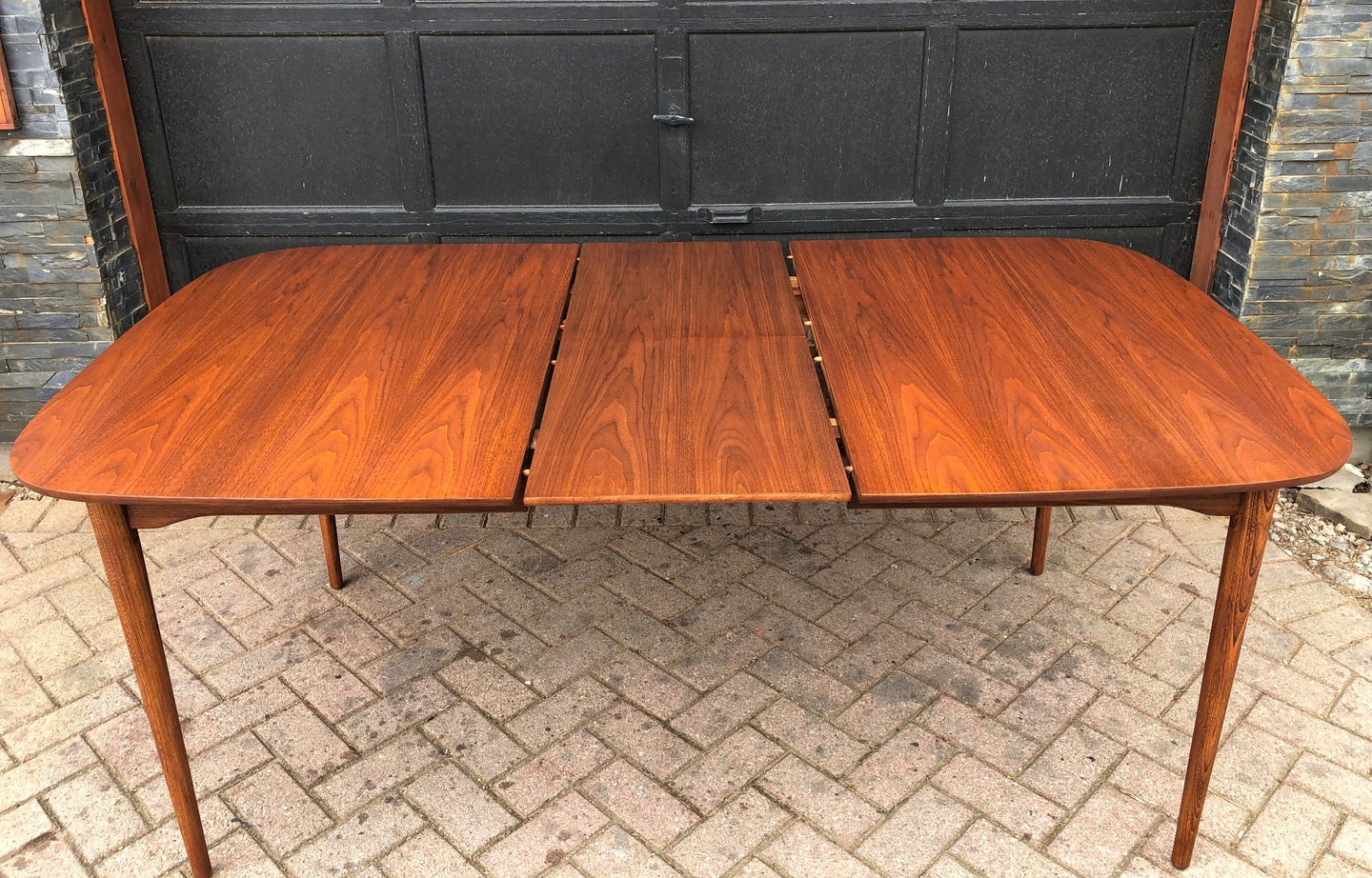 REFINISHED MCM Walnut Dining Table with butterfly extension 55