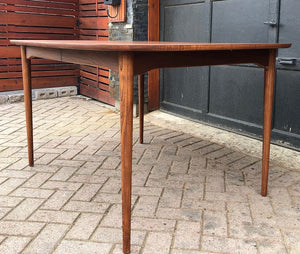 "REFINISHED MCM Walnut Dining Table with butterfly extension 55"" -72"", PERFECT - Mid Century Modern Toronto"