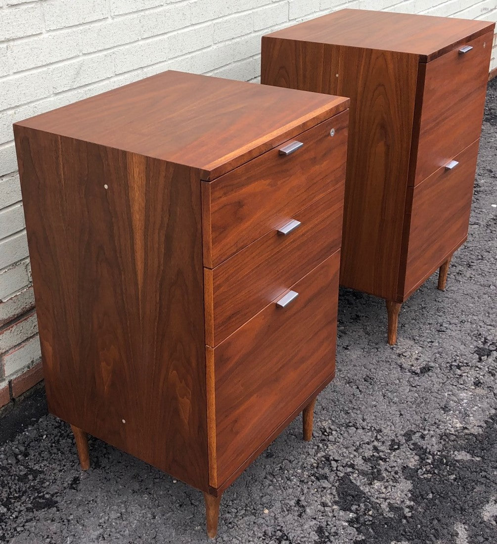 REFINISHED MCM Walnut filing cabinet PERFECT, 2 available - Mid Century Modern Toronto