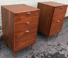 Load image into Gallery viewer, REFINISHED MCM Walnut filing cabinet PERFECT, 2 available - Mid Century Modern Toronto