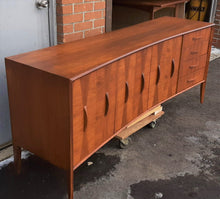 "Load image into Gallery viewer, REFINISHED Unique Mid Century Modern Walnut Inlay Credenza  76"" - Mid Century Modern Toronto"