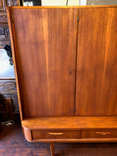"Load image into Gallery viewer, REFINISHED MCM Teak Highboard Tall Cabinet 87.5"", rare, perfect, treated for durability - Mid Century Modern Toronto"