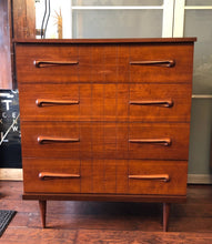 "Load image into Gallery viewer, REFINISHED MCM  Walnut Tallboy Dresser 36"" - Mid Century Modern Toronto"