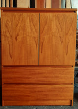 Load image into Gallery viewer, Danish MCM Teak Cabinet/ Wardrobe/ Tall Dresser