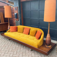 Load image into Gallery viewer, MCM Cloud Platform Sofa in Walnut & Mohair attributed to Adrian Pearsall 121""